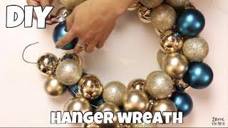 DAILY DECEMBER DIY | Holiday Hanger Wreath