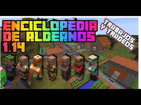 Enciclopedia De Aldeanos Minecraft 1.14 - 1.15 | 2020 | GoldemSheep