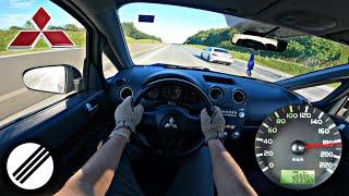 Mitsubishi colt 1.1 mpi Z30 top speed drive on german autobahn