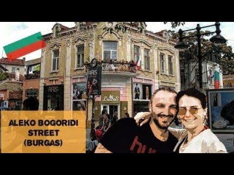 Bulgaristan; Burgas'ın en ünlü caddesi ALEKO BOGORİDİ