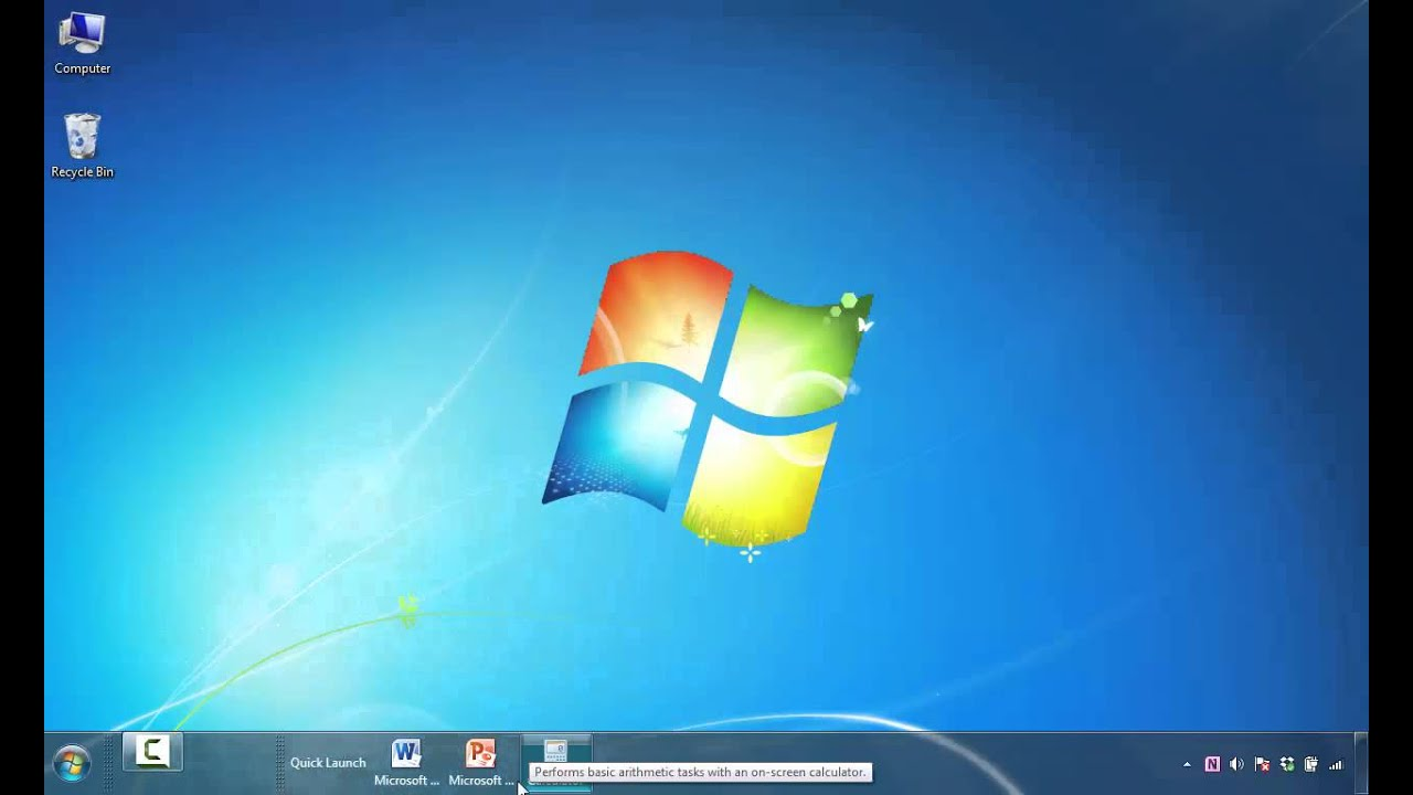 How To Add Shortcut Icons Quick Launch Toolbar In Windows 7