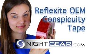 reflexite 2 inch tape v92 red white