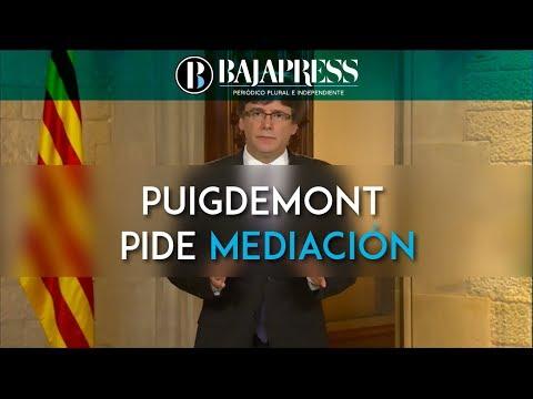 Puigdemont pide mediación y promete aplicar el resultado del referéndum