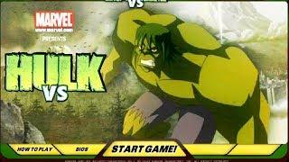 Colorful game - play Hulk video game - Hulk vs Superheroes cartoon for kids