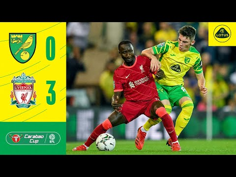 CARABAO CUP HIGHLIGHTS   Norwich City 0-3 Liverpool ▶4:46