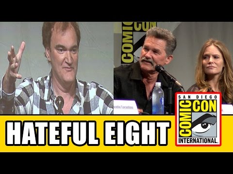 The Hateful Eight Comic Con Panel - Quentin Tarantino, Kurt Russell, Jennifer Jason Leigh