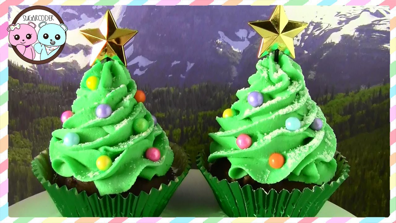 CHRISTMAS TREE CUPCAKES, CHRISTMAS CUPCAKES, CHRISTMAS TREE CAKE ...