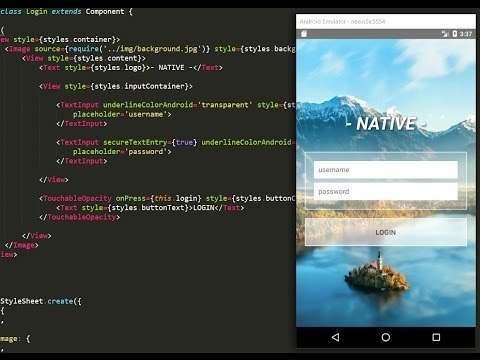 React Native Tutorial - Making a Login App with profile page #2 ...