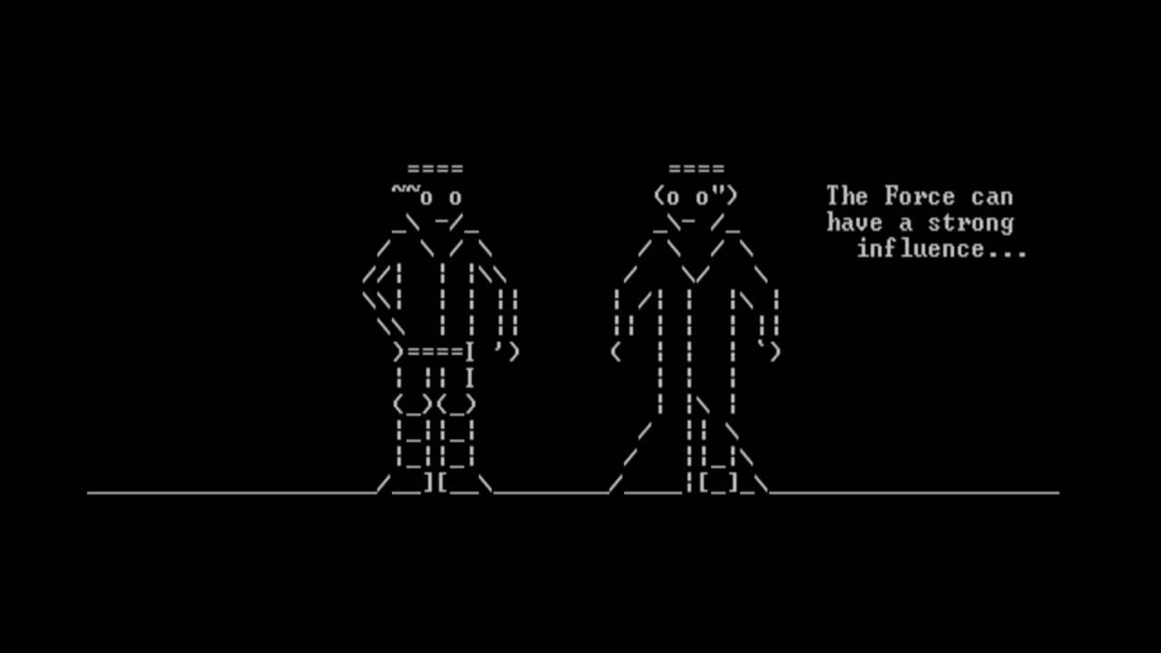 Telnet] Star Wars IV - ASCII Version - YouTube