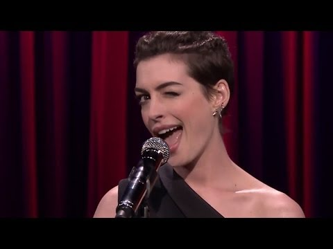 Thumbnail: Anne Hathaway Raps with Jimmy Fallon - Hilarious Clip!