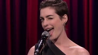 Anne Hathaway Raps with Jimmy Fallon - Hilarious Clip!