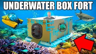 UNDERWATER BOX FORT CHALLENGE!! 📦💦