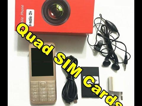 H mobile C9+ 4 sim cards