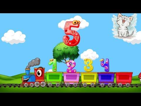 Учим цифры и цвета с поездом для самых маленьких. Развивающий мультик