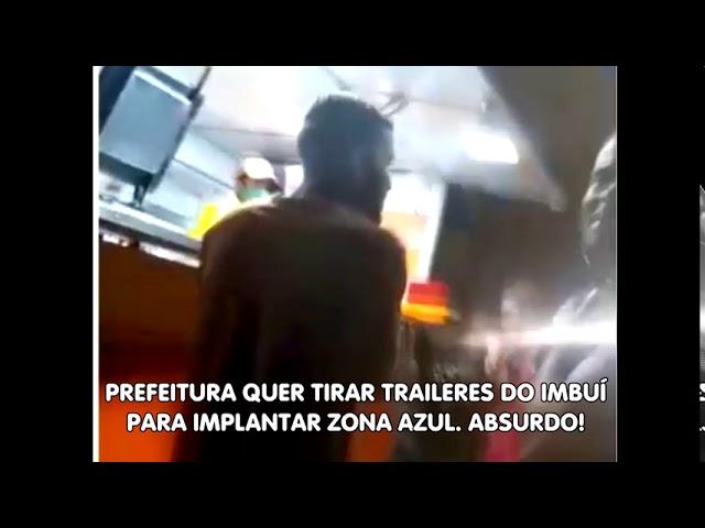 Comerciantes de traileres do Imbuí impedidos de trabalhar