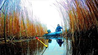 ЛОВЛЯ ЧЁРНОГО КАРАСЯ РЫБАЛКА на ПОПЛАВОК в КАМЫШЕ Зимняя рыбалка 2020 2021
