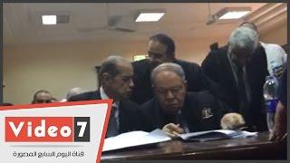 بالفيديو.. بدء جلسة محاكمة رجل الأعمال صلاح دياب و13 آخرين بتهمة التجمهر