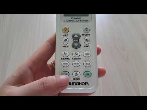 hướng dẫn sử dụng máy lạnh mitsubishi - Cách Sử Dụng Remote Máy Lạnh Đa Năng