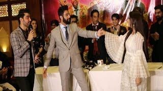 Sanam Chaudhry and Noor Hassan Dance in Lahore during promotion of Movie Jackpot