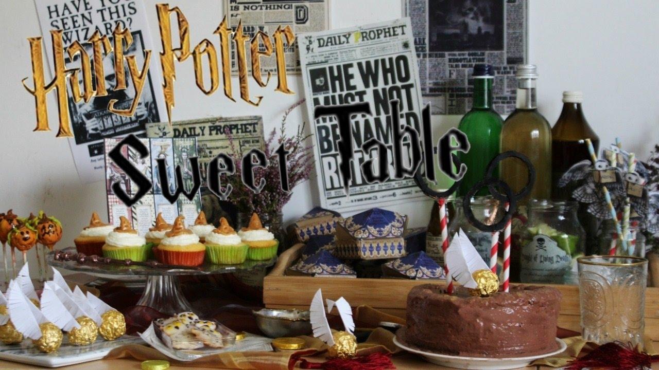 Diy Harry Potter Halloween Sweet Table Halloween Buffet
