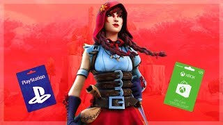 🔴 {Fortnite} 🔴 | GIVEAWAY do cartão do presente de Xbox & PS4 | 🔴 | #ROAD a 5.5 K SUB