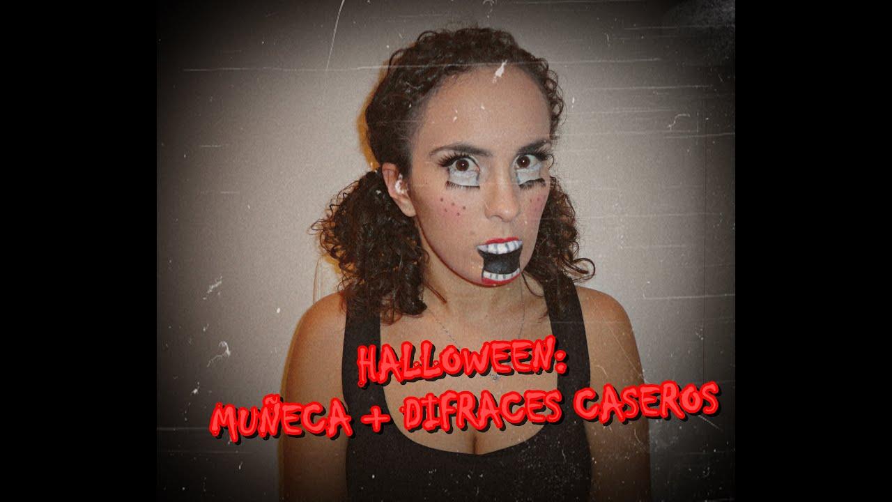 Halloween disfraz casero y f cil mu eca youtube - Disfraz halloween casero ...