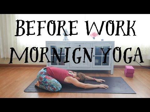 Before Work Morning Yoga - Beginner Hatha Yoga Practice
