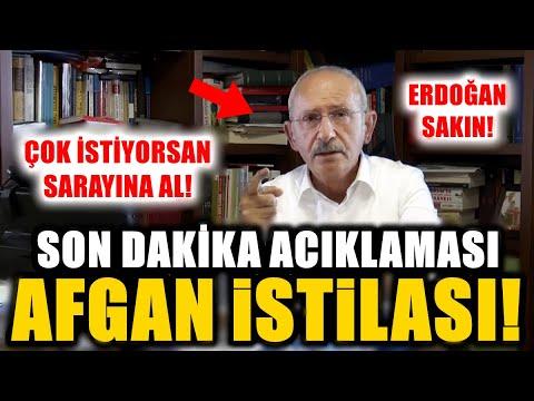 """Son Dakika! Kılıçdaroğlu'ndan Afgan Mülteci Açıklaması """"Erdoğan Sakın! Afganları Sarayına Al..."""""""