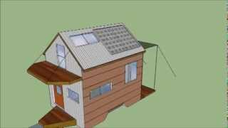 Tiny House 5x8 Ultra Light Home Trailer Plans. Music By Tumbleweed