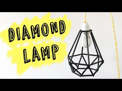 How To Make A Geometric Lamp | DIY Diamond Lamp