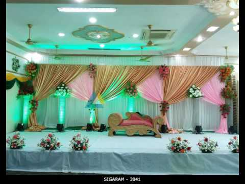 Wedding Reception Stage Decoration At Sree Devi Mahal