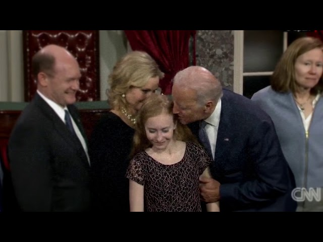 Image result for joe biden touching children