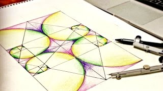 How To Draw Golden Ratio Spirals - Sacred Geometry tutorial