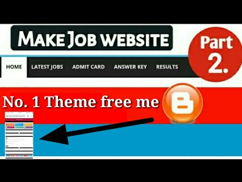 No.1 Free Template for Job website blogger -2019 | Customized Blogger Themes