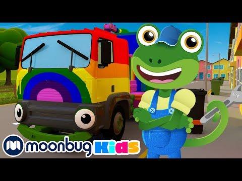 rainbow-recycling-truck!-|-gecko's-garage:-nursery-rhymes-&-baby-songs-|-learn-abcs-&-123s