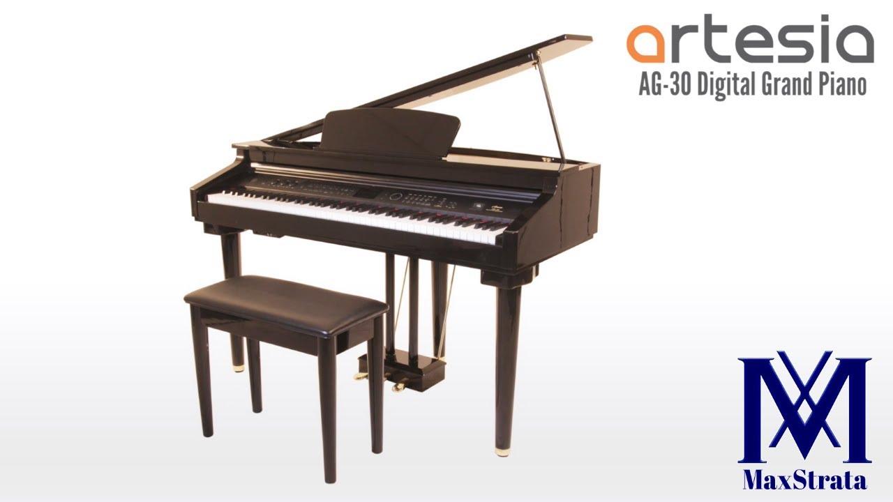Artesia AG-30 Micro Grand Digital Piano Deluxe Bundle | MaxStrata