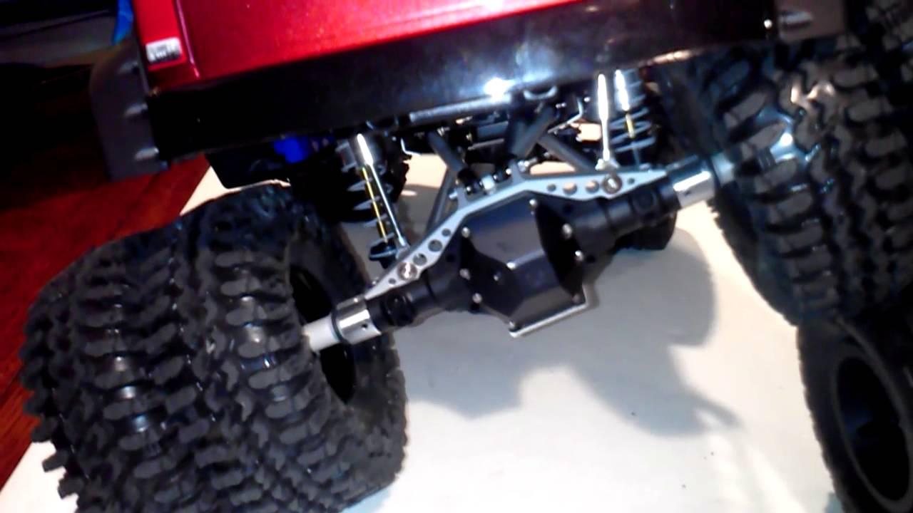 Custom Car Rims >> Axial Scx-10 Dodge Ram Dually 4x4 - YouTube