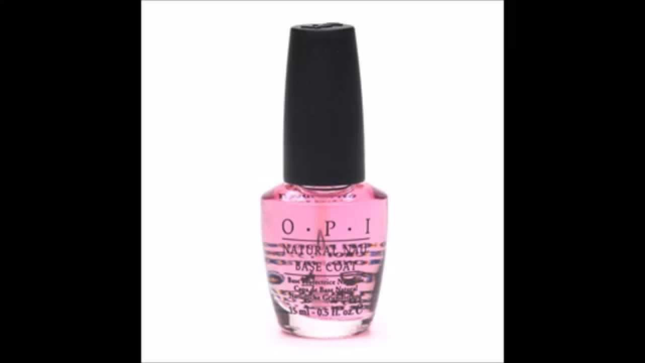 OPI Natural Nail Base Coat - YouTube