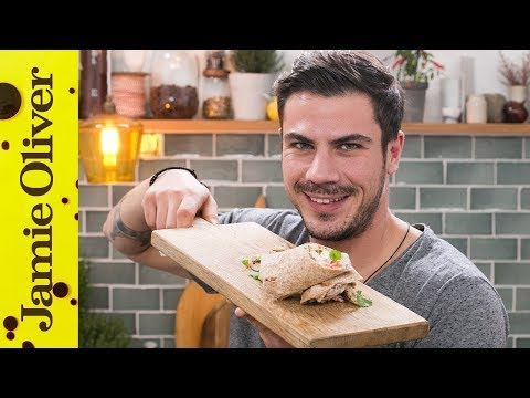 Healthy Greek Chicken Wrap | Akis Petretzikis