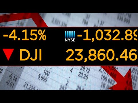 Dow drops 800 points, marking worst day for stock market this year