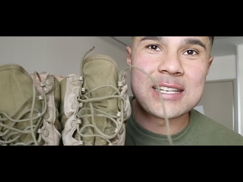 HOW TO TIE YOUR MILITARY BOOTS & BLOUSE YOUR TROUSERS