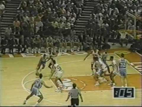 Rick Fox last second shot vs #1 Oklahoma 1990 NCAA Tournament Woody Durham call
