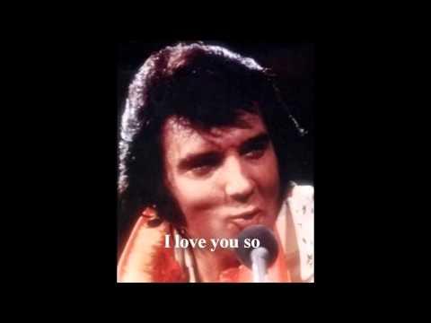 Elvis Presley -  Danny Boy  ( take 7)  with lyrics