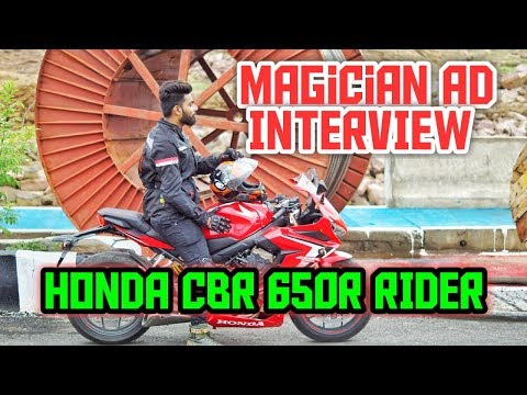 Honda cbr650r rider interview | Magician AD , a street  magician from bhopal life interview