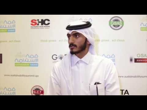Eng. Mohammed Al-Sharshani from TARSHEED speaking at Sustainability Summit 2017