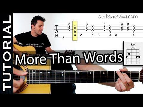 Aprende More Than Words De EXTREME  Ritmo Y Técnica De Acompañamiento