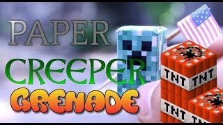 How To Make CREEPER GRENADES (4th of July Special) Minecraft Papercraft