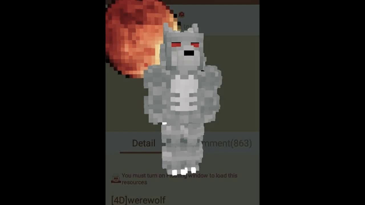 Skin wolf and red moon (MCPE Master) - YouTube