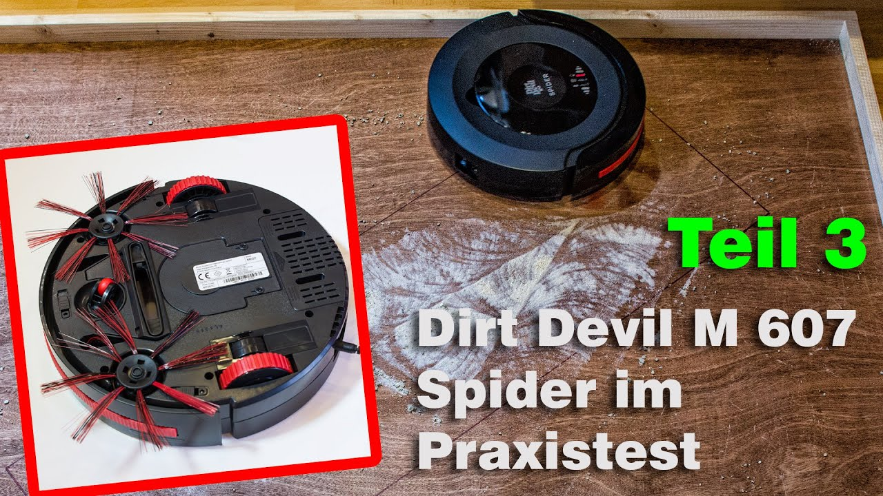 teil 3 saugroboter dirt devil m607 spider test youtube. Black Bedroom Furniture Sets. Home Design Ideas