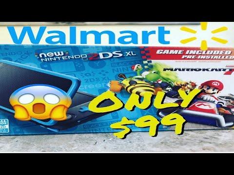 New Nintendo 2Ds XL Walmart Mario Kart 7 Bundle Unboxing!